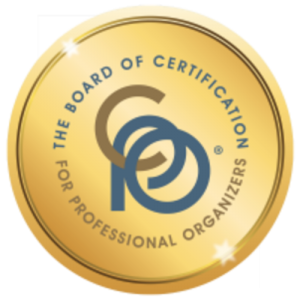 Certified Professional Organizer badge