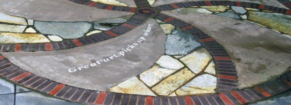 Edmonds WA Dayton Street Plaza art fibonacci-detail