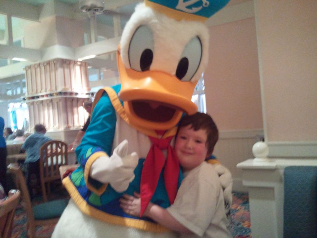 Boy and Donald Duck