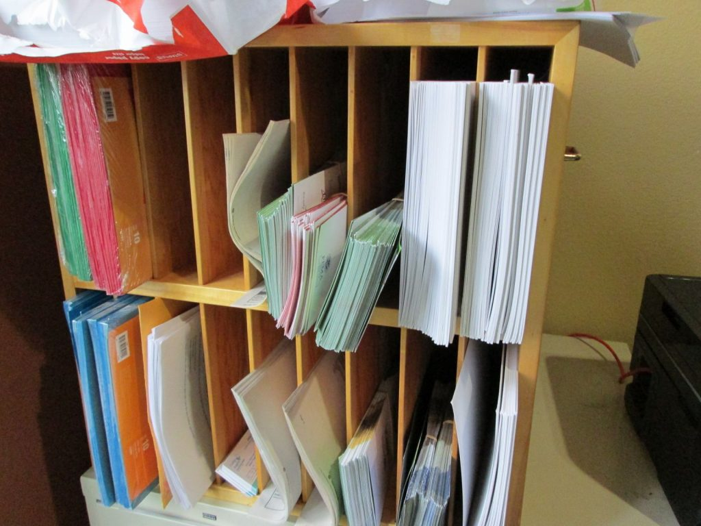 Overflowing mail sorter