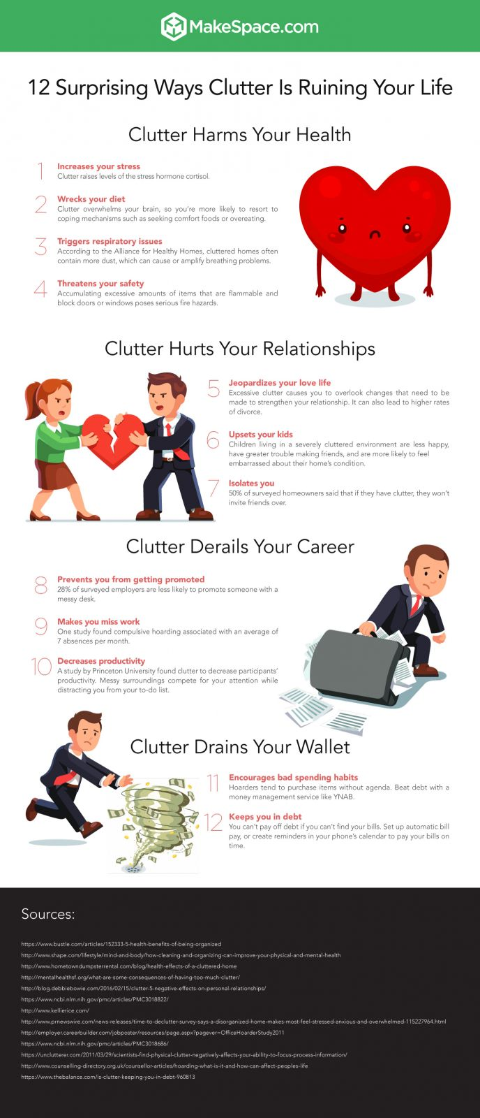 MakeSpace Reasons to Declutter Infographic