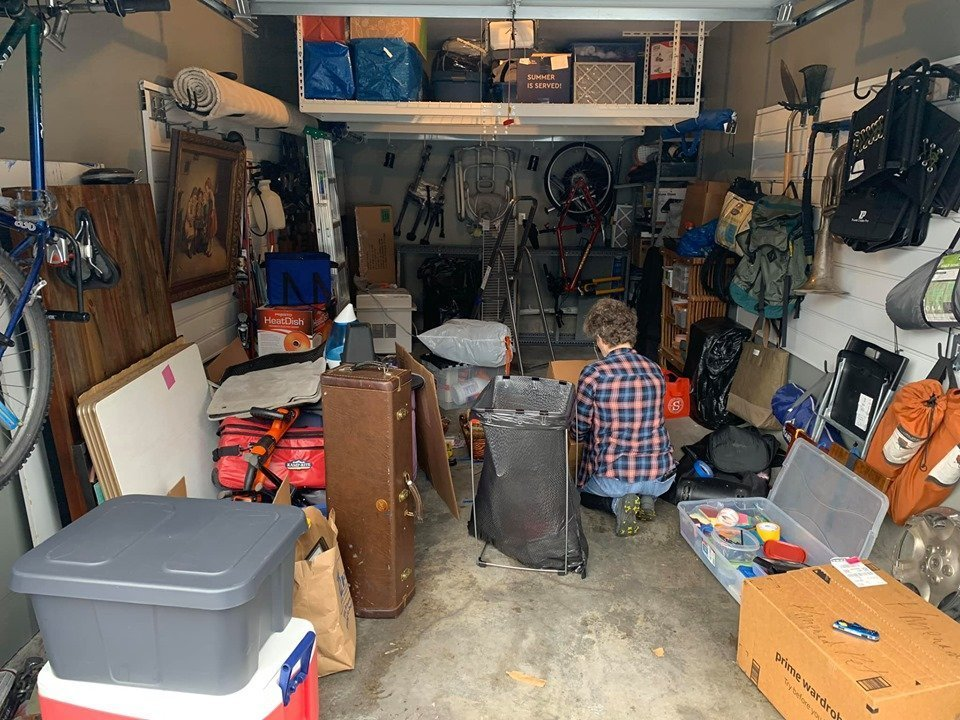 Casual Uncluttering in garage