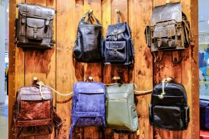 leather knapsacks
