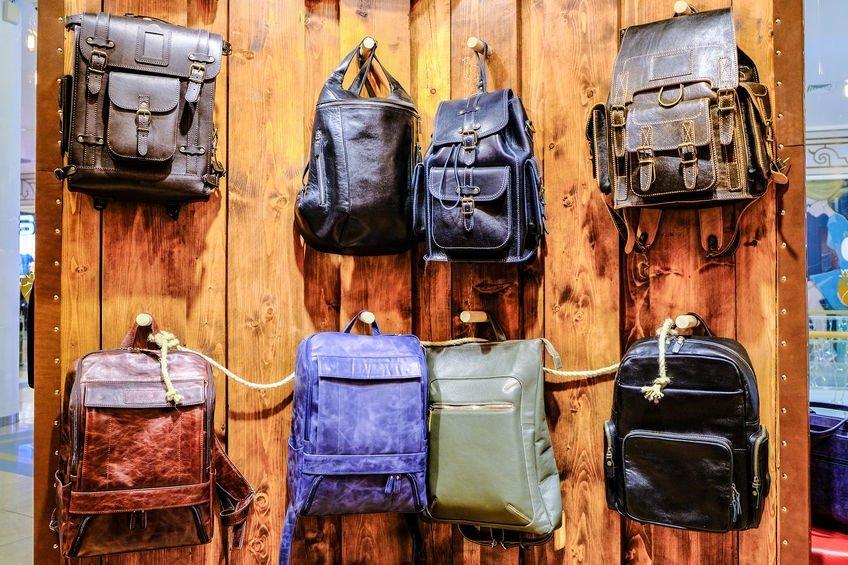 leather knapsacks